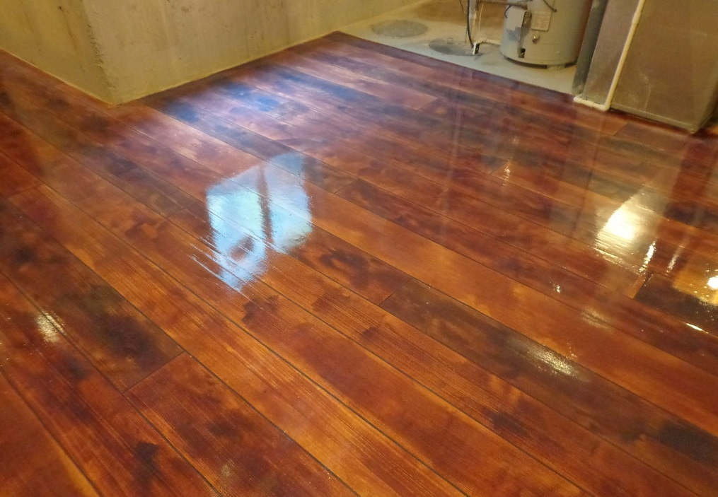 hardwood flooring in basement